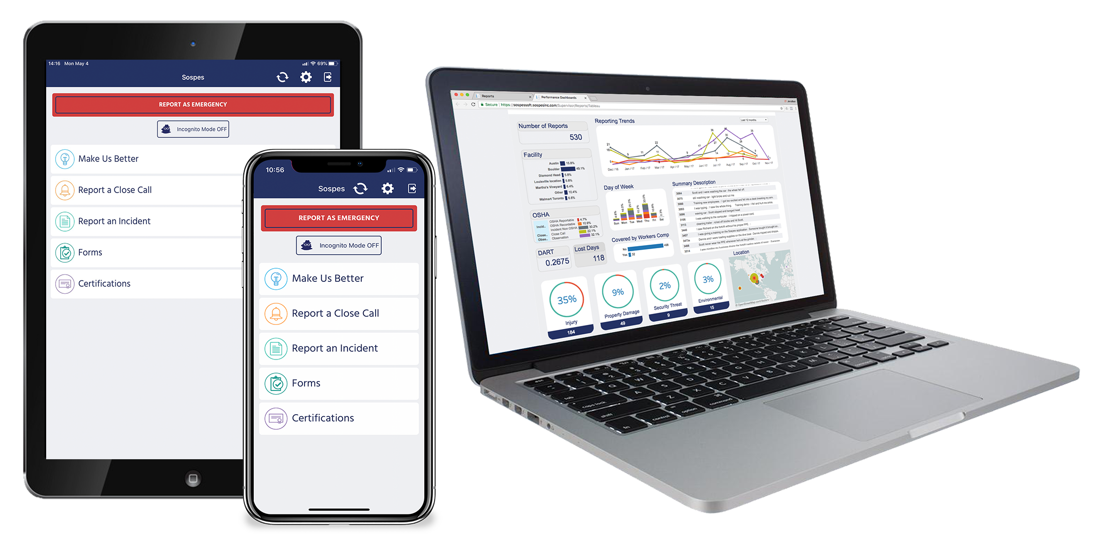 sospes mobile and web ehs software