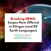 Sospes Now Offered in Klingon (and 89 Earth Languages)